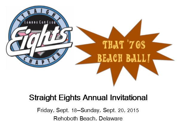 The theme for Beach Ball 2015 is 'That '70s Beach Ball', celebrating polyester, wide flared pants, and the cars of the 1970s. We are returning to a 3 day event format this year, but the Atlantic Sands Hotel will be extending the club room rate to Thursday night for those who like to make Beach Ball a mini-vacation. Early bird registration will be $140, after May 31st the rate will be $160, and our hotel rate will be increased by only $5 to $160 per night - the first increase in a number of years. Registration will be available on the club web site soon. Keep an eye out for more information.